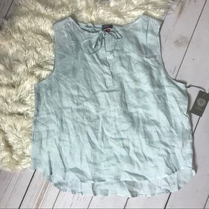 VINCE CAMUTO | Sleeveless Linen Blouse | Size XL